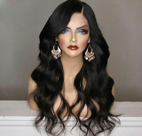 9A 20inch Side Part Body Wave Full Lace Mink Wig