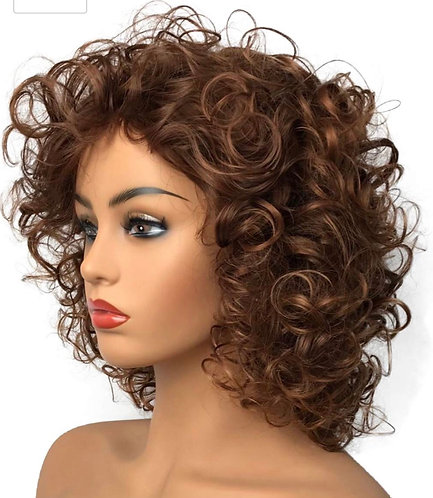 Zoie Brown Tone Curly Wig