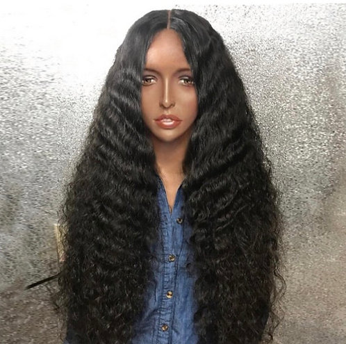 9A 24 inch Deep Natural Wave Full Lace Wig