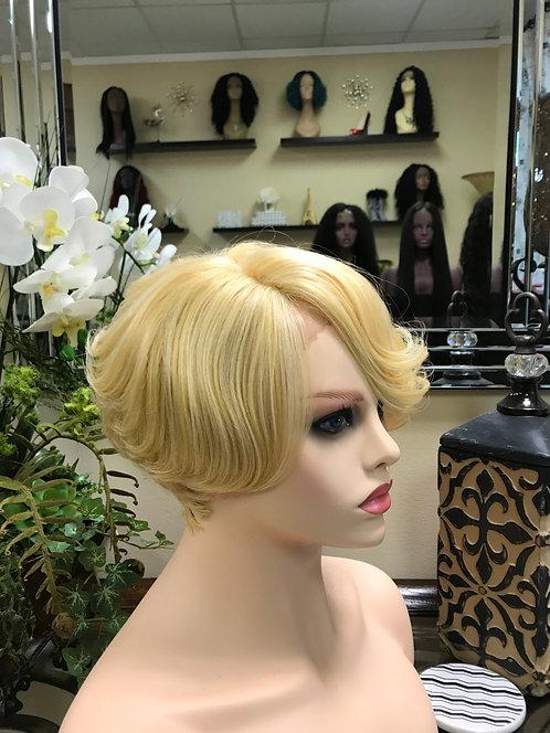9A Mink Ash Blonde Bob Lace Front Wig