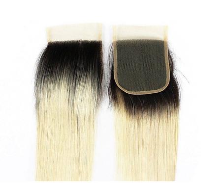 Miracle Hair Wholesale 1B/613 Straight Closure