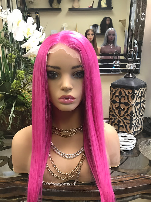 9A Highlighter Pink Straight Wig