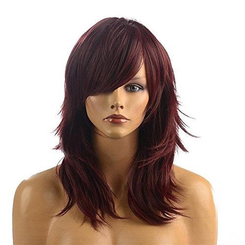 Sheena Wine & Black Synthetic Wig