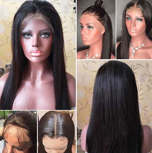 9A 20inch Mink Silky Straight Full Lace Wig