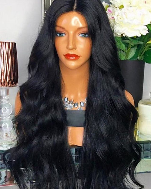 9A 24 inch Lace Front Mink Body Wave Wig
