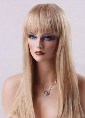 9A Chinese Bang Blonde Wig (10-22)
