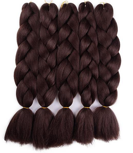 Jumbo Kanekalon Synthetic (Bulk)  Braiding Hair
