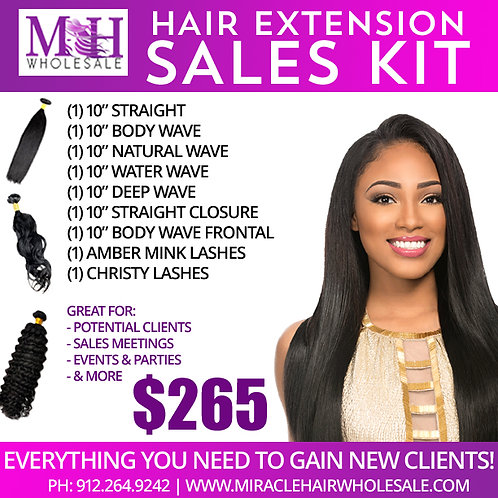Miracle Hair Wholesale Hair Extension Sales Kit