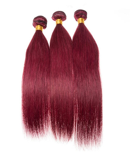 9A- Burgundy Straight Bundles