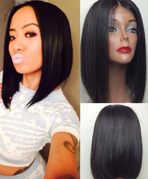 12inch Straight Lace Front Middle Part BOB