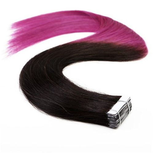 20pc  Ombre T1/Purple Tape-In Extensions