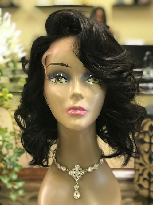 9A Straight Curl 12 inch Lace Front Wig