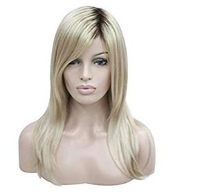 9A Mid-Length Blonde w/ Dark Roots Lace Front Wig