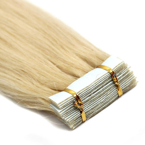 20pc Platinum Blonde Tape-In Extensions