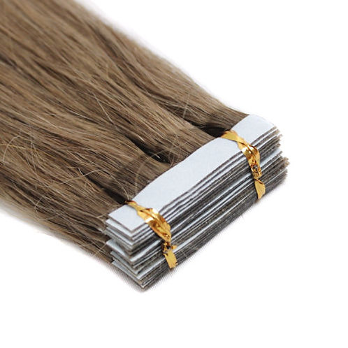 20pc Chestnut Brown Tape-In Extensions 50g