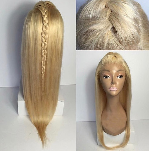 9A-Brazilian Blonde Straight Lace Wig #613 -27 (10-24)