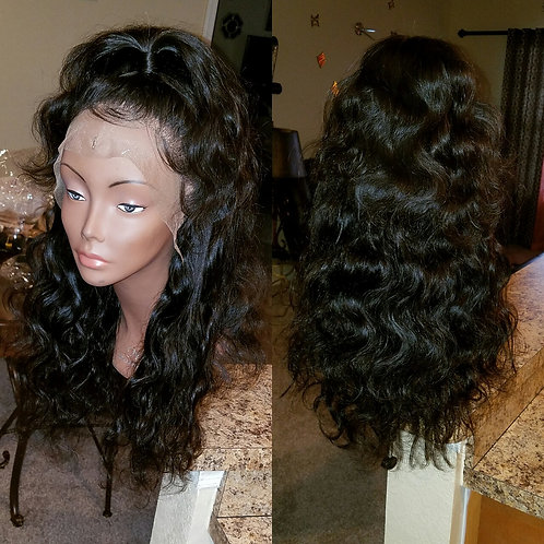 14 inch Custom Body Wave Lace Front Wig