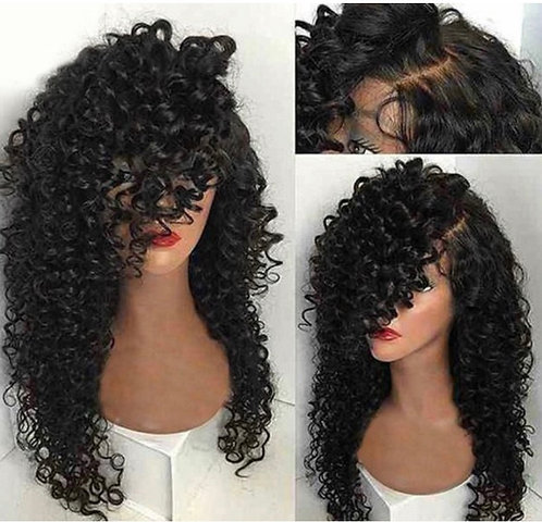 9A 14 inch Bohemian Curly Lace Front Wig