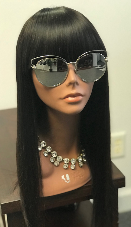 9A 14 inch Chinese Blunt Cut Wig