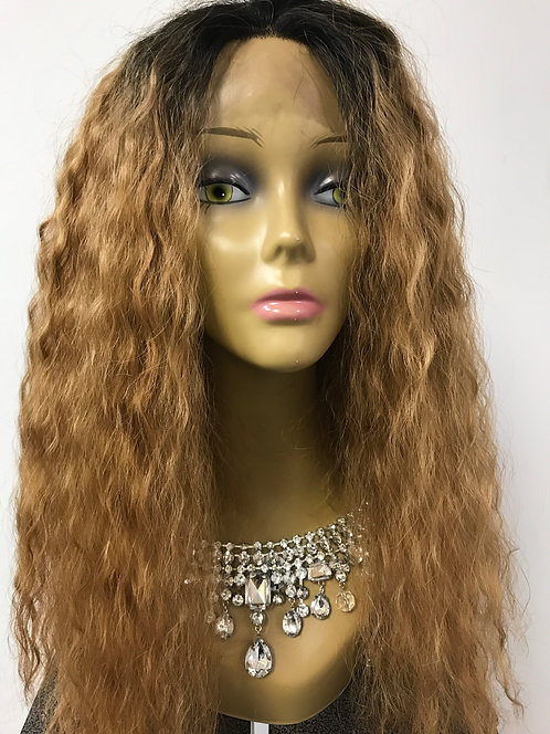 Miracle Hair Wholesale 9A Natural Rally Wave 18 inch 1B/27 Lace Front Wig