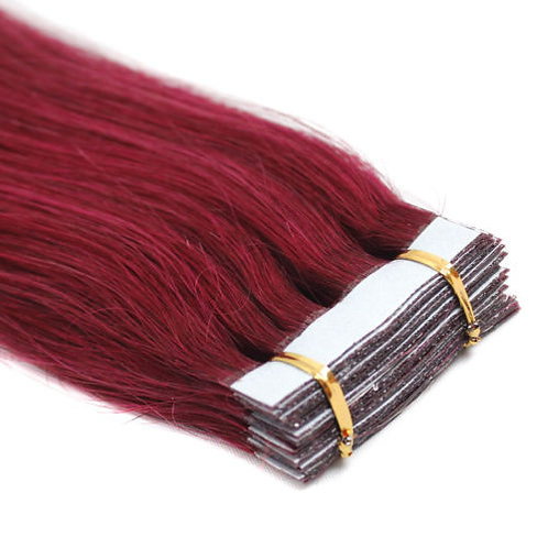 20pc Burgundy Tape-In Extensions 50g
