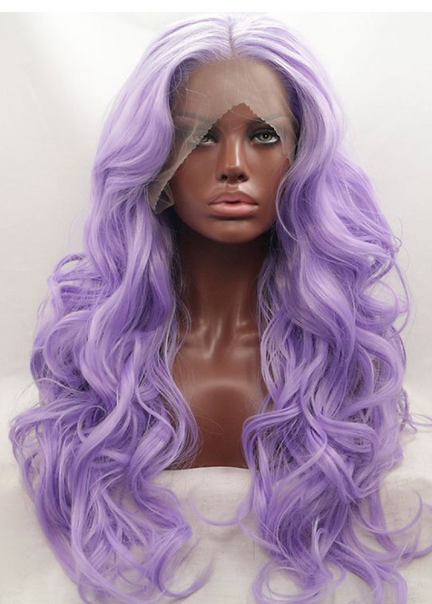 9A Perky Soft Purple Front Lace Body Wave Wig