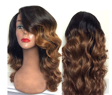 9A 14inch 1B/27 Body Wave Lace Front Wig