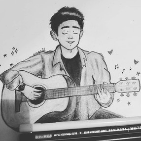 BigBong Playing Guitar