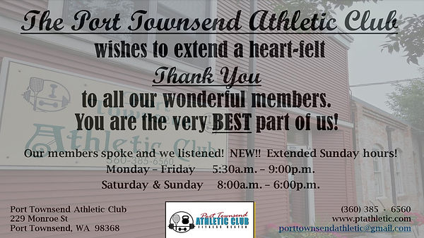 The Port Townsend Athletic Club Leader A