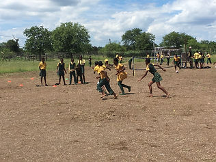 Kids playing football, South Africa