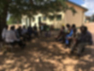 Village elder meeting, Zimbabwe