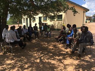 Village elder meeting, Zimbabwe