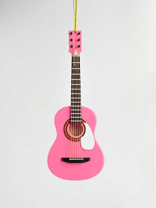 Pink Guitar Ornament