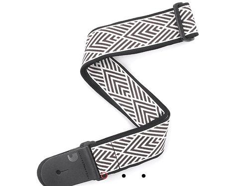 Cream Geometrics Guitar/Bass Strap