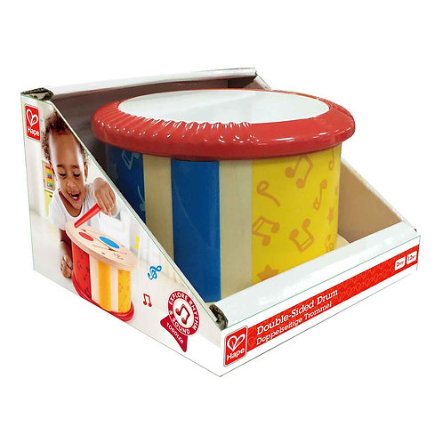 Hape Double-Sided Drum - Wooden Double-Side Musical Drum Instrument for Toddlers