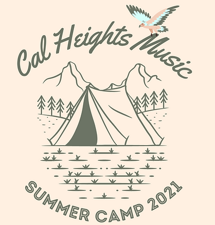 White and Gold Modern Camp Group T-Shirt