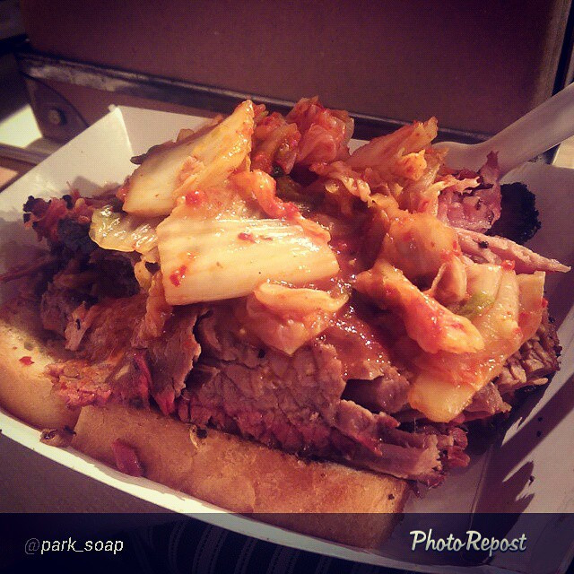 """Instagram - By @park_soap """"""""Bad as Texas Brisket"""" from kimchismoke Holy yum, Bat"""