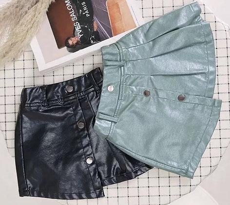 Sadie Leather Skort