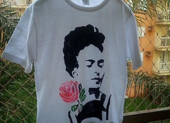 Camiseta Frida Kahlo Flores