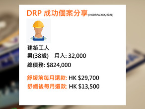 債務舒緩個案分享:( HKDRPA XXX/2021)