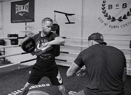 brendan schaub glenn holmes boxing heavy bag gym boxnburn santa monica