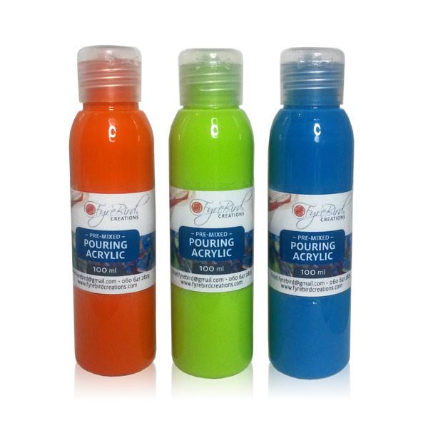 Fyrebird acrylic standard colours
