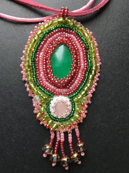 Rose Quartz & Adventurine Necklace