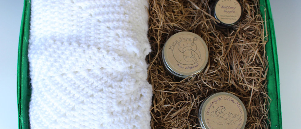 Welcome Baby Gift Basket: gender neutral