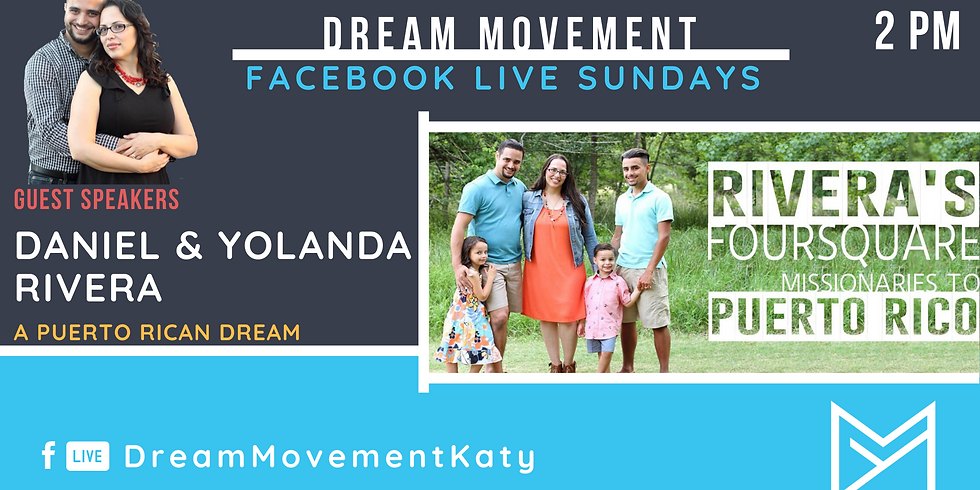 Facebook Live Sundays: Guest Speakers Daniel & Yolanda Rivera