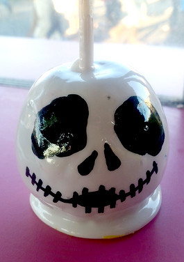 Jack Skellington Candy Apple