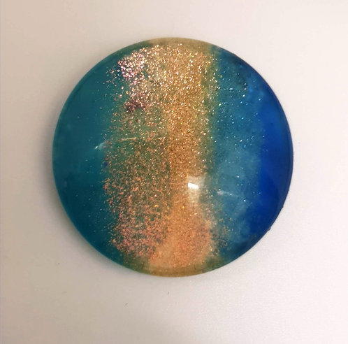 25mm Hand painted Glass Cabochon - 1