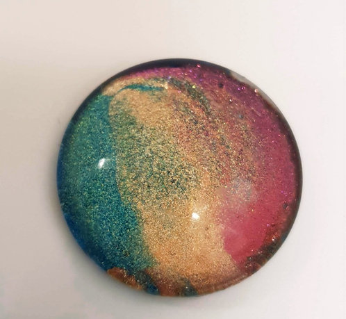 25mm Hand painted Glass Cabochon -2