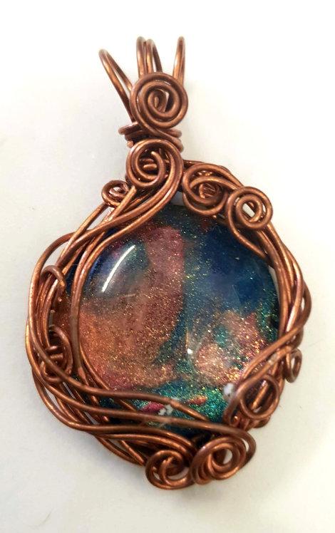 Copper Galaxy Pendant