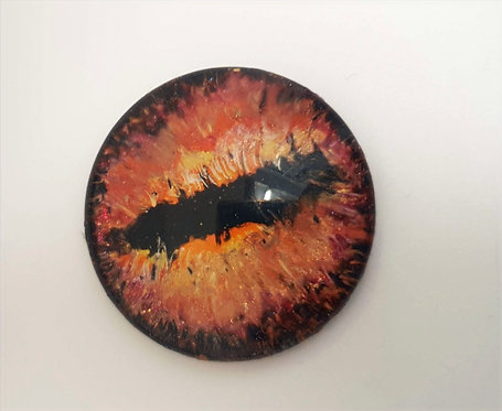 30mm Hand Painted Dragon Eye Glass Cabochon - 1